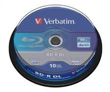 50 Verbatim Rohlinge Blu-ray BD-R Dual Layer 50GB 6x Spindel