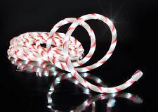 LED Lichtschlauch Zuckerstange 6m  - Lichterschlauch kaltweiß Außen Lichterkette