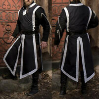 Medieval Mens Tunic Top Shirt Dress Stag Cosplay Party Split Costume T Shirt Tee