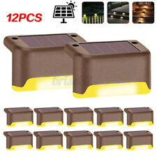 6 /12Pack Solar LED Deck Light Outdoor Garden Path Stairs Step Fence Lighting
