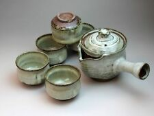 Hagi ware Japanese tea pot cups set  hakuyu chaki Seigan Yamane 570ml