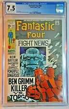 Marvel Comics Fantastic Four #92 Nov. 1969 CGC 7.5 OW to White pages