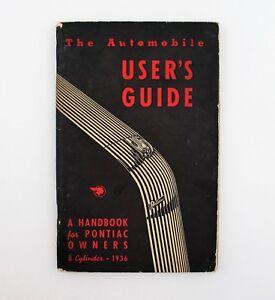 Antique 1936 Pontiac User's Guide / Owner's Manual - Original - Authentic
