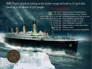The Sinking Of The Titanic Designed  1912 Original Penny Metal Plaque