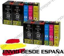 10 CARTUCHOS DE TINTA COMPATIBLE NON OEM PARA EPSON WORKFORCE WF 7610DWF T2715