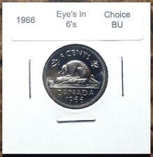 Canada 1963 Die Chip in 6 Variety Five Cents Gem BU!!