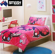 Aus Qlty Smash-Butterfly Queen Bed Quilt/Doona/Duvet Cover Set-Girls 180 TC