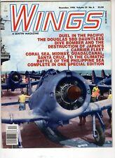 Wings Airplane Magazine Dec 1995 Douglas SBD Dauntless Coral Sea  Midway