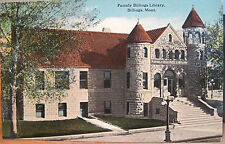 Montana Postcard Old PARMLY BILLINGS LIBRARY Western Heritage Center Bloom Bros