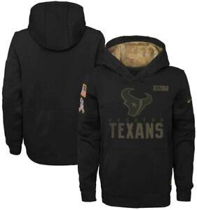 Houston Texans Nike Youth Boys 2020 Salute to Service Pullover Hoody Sweatshirt