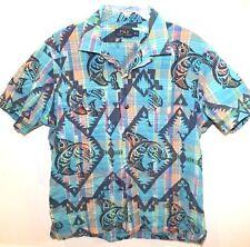 Polo Ralph Lauren Mens Teal Tropical S/S Cotton Button-Front Shirt NEW Size M