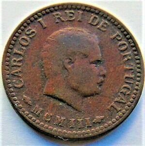 MCMIII - 1901 INDIA-PORTUGUESE, Carlos I,1/8 Tanga grading About VERY FINE.