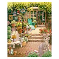 5D DIY Full Drill Diamond Painting Quiet Yard Cross Stitch Embroidery Kits #JT1