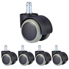 5x Office Chair Caster Wheel Swivel Wood Floor Replacement Twin 716 Stem 450lb