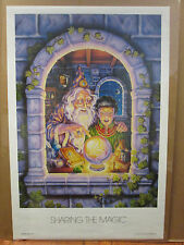 Vintage 1988 Share the Magic original fantasy poster  8862