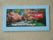 Vintage 1950's Atlantic Gasoline Ink Blotter / Advertising / Desk Accessory