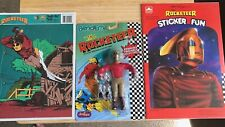 Rocketeer Lot  Bendable Fig, Frame Puzzle, Sticker Book On Sealed Card See Photo