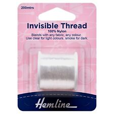 HEMLINE NYLON INVISIBLE THREAD 5 PACKS (1000m /1100 YARDS) CLEAR -  H240