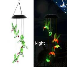 Solar Powered LED Wind Chime Garden Hanging Spinner Light Color Changing Lamp