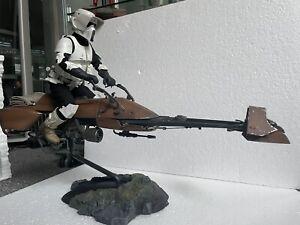 Star Wars Sideshow 1/6 Speeder Bike & Scout Trooper(see description)Not Hot Toys