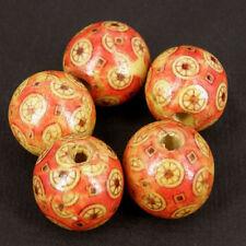 Perline sfuse di legno rosso