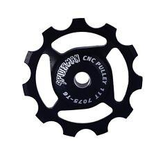 ROYAUME-UNI Envoi - 11 T CNC T6 7075 Aluminium Roue Jockey-Noir
