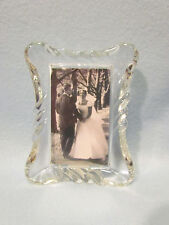 Granville Home Beautiful Clear Glass 3x5 Photo Picture Frame Wedding-NIB
