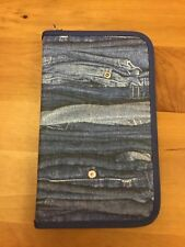 Zip Up Pencil Case/ Organiser Jeans Denim Print from John Lewis