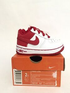 Brand New Nike Force 1 (TD) Toddler Baby Red White 2c