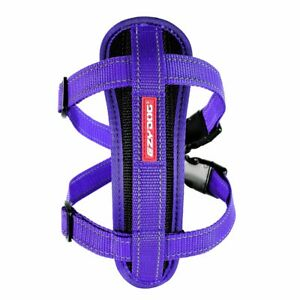EZY-DOG HIGH QUALITY CHESTPLATE HARNESS + FREE SEATBELT ATTACHMENT (PURPLE)