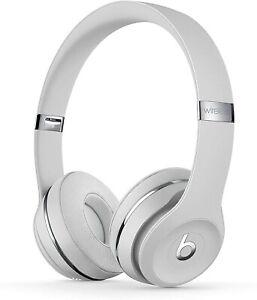 Beats Solo 3 Wireless On-Ear HeadphonesWhite Satin Silver New Sealed Box
