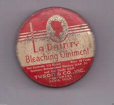 Vintage 1930s Black Americana 10c La Dainty Bleaching Ointment Tin Empty