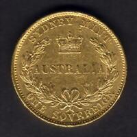 Australia. 1855 Sydney Mint - Sovereign..  Type-1.. gVF - Much Lustre & RARE