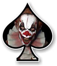 ACE OF SPADES With Scary Evil Horror Clown Vinyl Car Truck Helmet Sticker decal