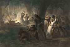 Images of Americana: Rescue of the Daughters of Daniel Boone - Fine Art Print