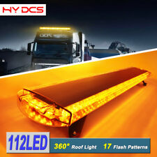 "59"" 112LED TOP TRUCK EMERGENCY WARN LIGHT BAR BEACON FLASH RESPONSE AMBER YELLOW"