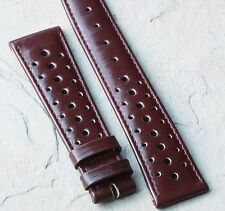 Oxblood vintage 20mm rally band 1960/70 Heuer Autavia GMT 2446c compatible strap