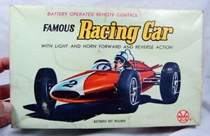Vintage 1970's Famous Formula RACING CAR battery operated Marx Toys