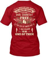 Veteran 7% Of Americans Have Worn A U.s. Military Hanes Tagless Tee T-Shirt