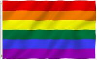 ANLEY Rainbow Flag Gay Pride Lesbian LGBT Homosexual Rights Banner 3x5 Foot Flag