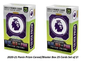 2020-21 Panini Prizm Premier League 2 x Cereal/Blaster 25 Card 3 Exclusive Prizm