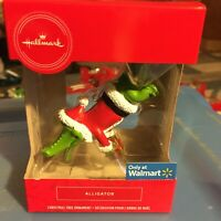 Hallmark Alligator With Santa Suit Florida hanging Gator Christmas Ornament