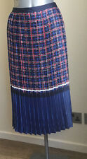 TU Premium Lined Pleated Navy, Red, White Check Skirt - BNWT Size 20 (RRP £28)