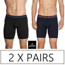 2 x JOCKEY MENS COOL ACTIVE MID TRUNKS Underwear Undies Jocks - Navy / Black