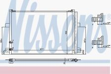 Nissens Condenser 940225 Fit with VW Amarok