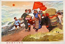 Original Vintage Poster Chinese Cultural Revolution Dazhai Blossoms 1974