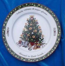 Portmeirion Studio Christmas Story Dessert Salad Plate Visions of Sugar Plums