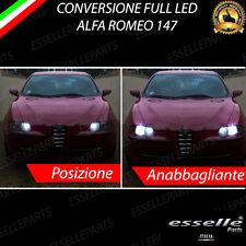 KIT LED ANABBAGLIANTI H7 LED + LUCI DI POSIZIONE H6W LED CANBUS ALFA 147 MK1