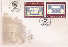 Romania,2010, National Bank,money,finance,gold,rare,FDC,money on stamps,building