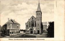 CPA `s GRAVENZANDE Nieuwe Gereformeerde Kerk en Pastorei NETHERLANDS (601932)